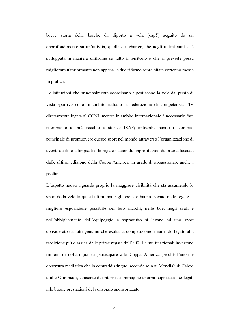 Anteprima della tesi: L'industria nautica nell'economia italiana - Il comparto velico e l'America's Cup, Pagina 4