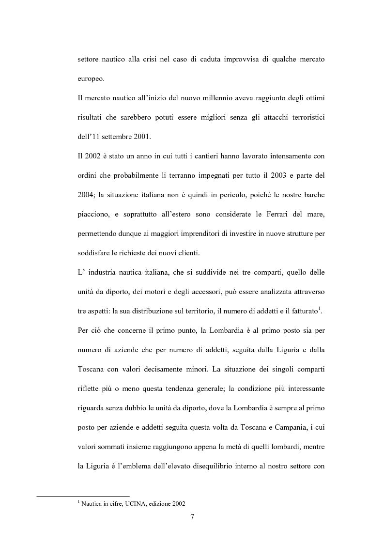 Anteprima della tesi: L'industria nautica nell'economia italiana - Il comparto velico e l'America's Cup, Pagina 7