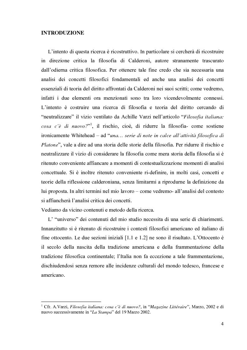Anteprima della tesi: La filosofia del diritto di Mario Calderoni, Pagina 1