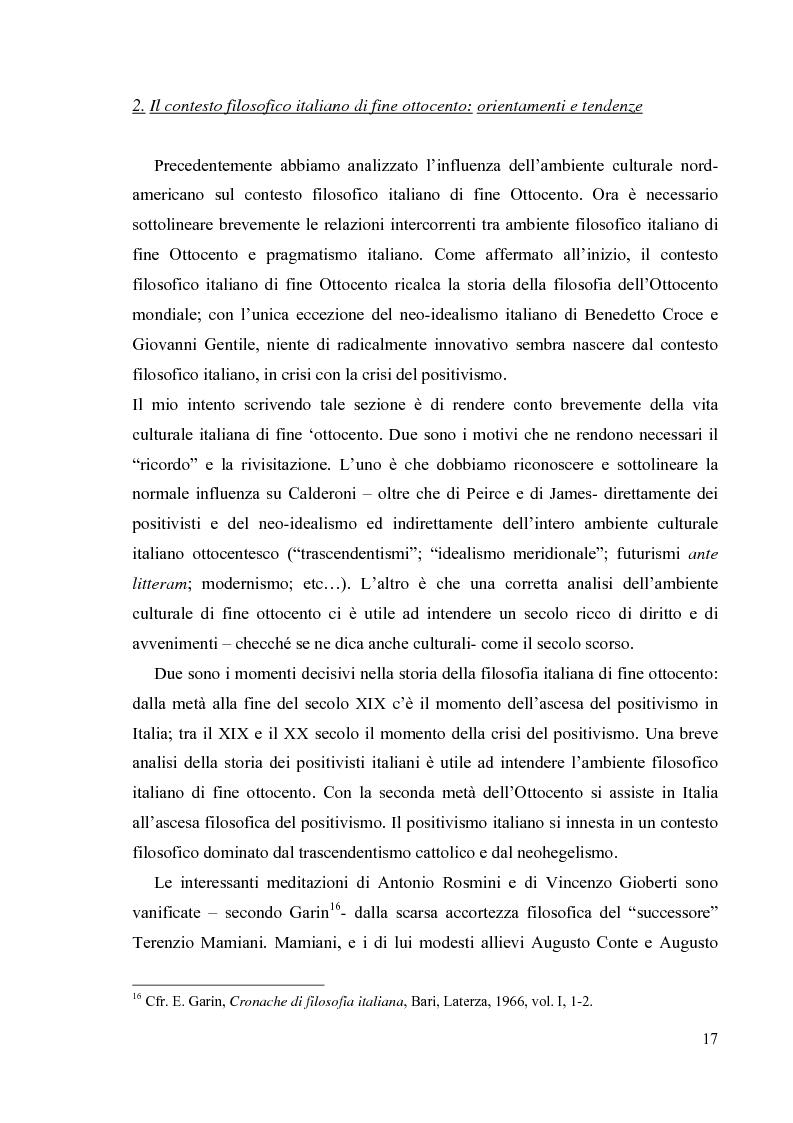 Anteprima della tesi: La filosofia del diritto di Mario Calderoni, Pagina 14