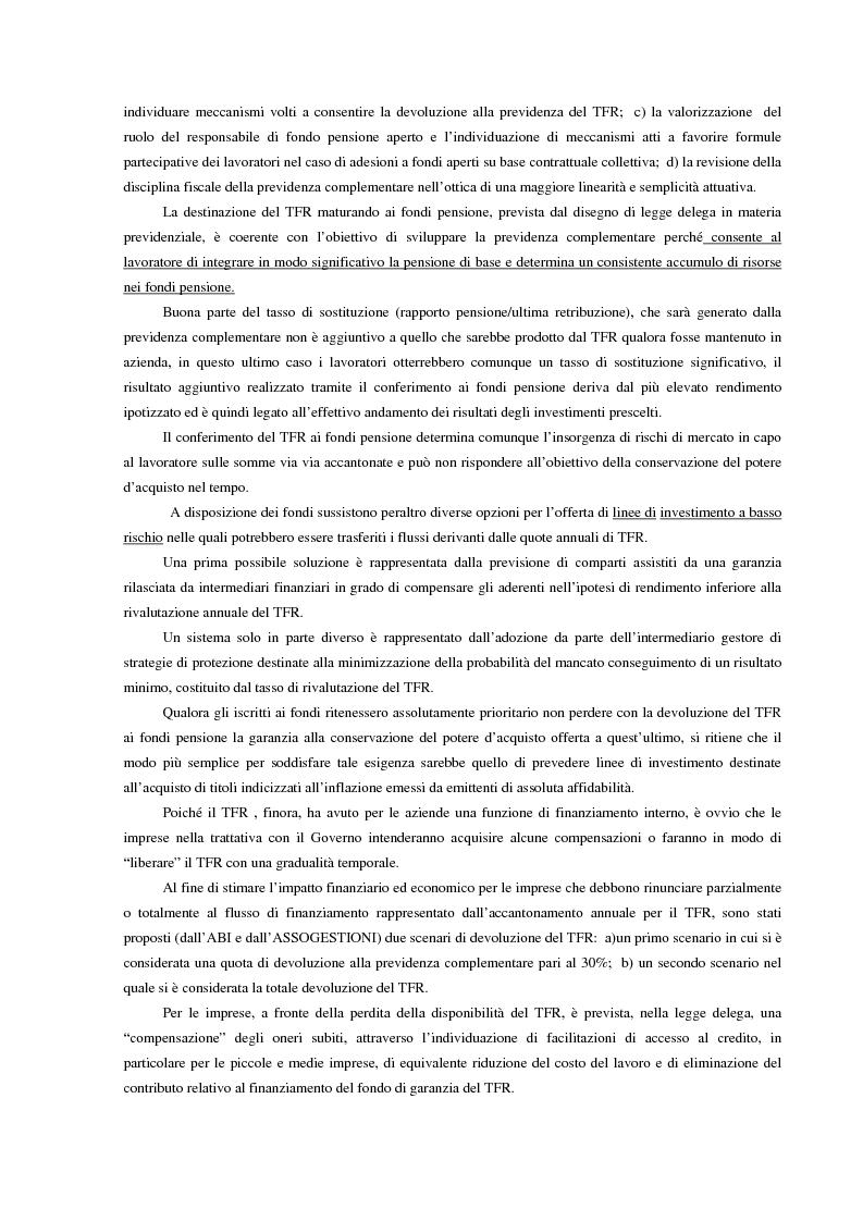 Anteprima della tesi: La previdenza complementare in Italia e nell'ordinamento comunitario. Un fondo pensione negoziale in Italia: Telemaco, fondo pensione complementare per i lavoratori delle aziende di telecomunicazione, Pagina 15