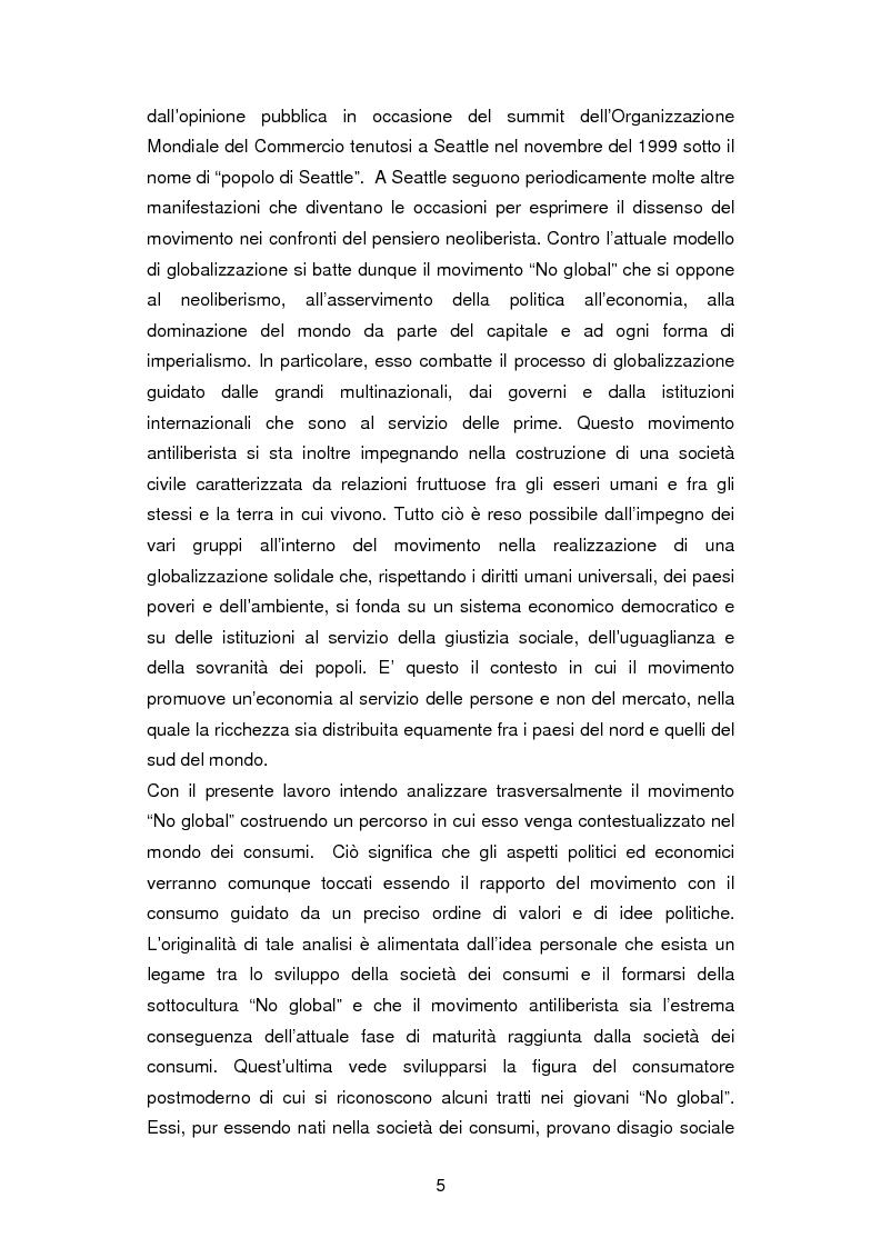 Anteprima della tesi: La critica ai consumi: la sottocultura No global, Pagina 2