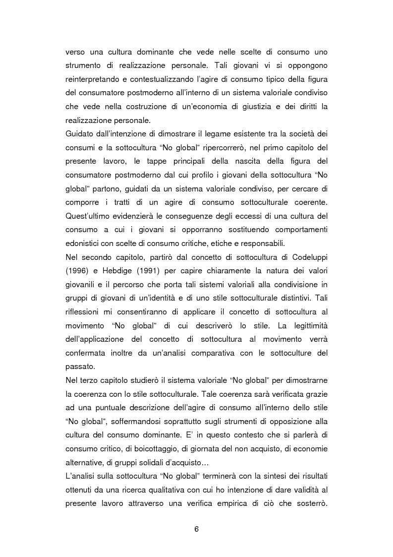 Anteprima della tesi: La critica ai consumi: la sottocultura No global, Pagina 3