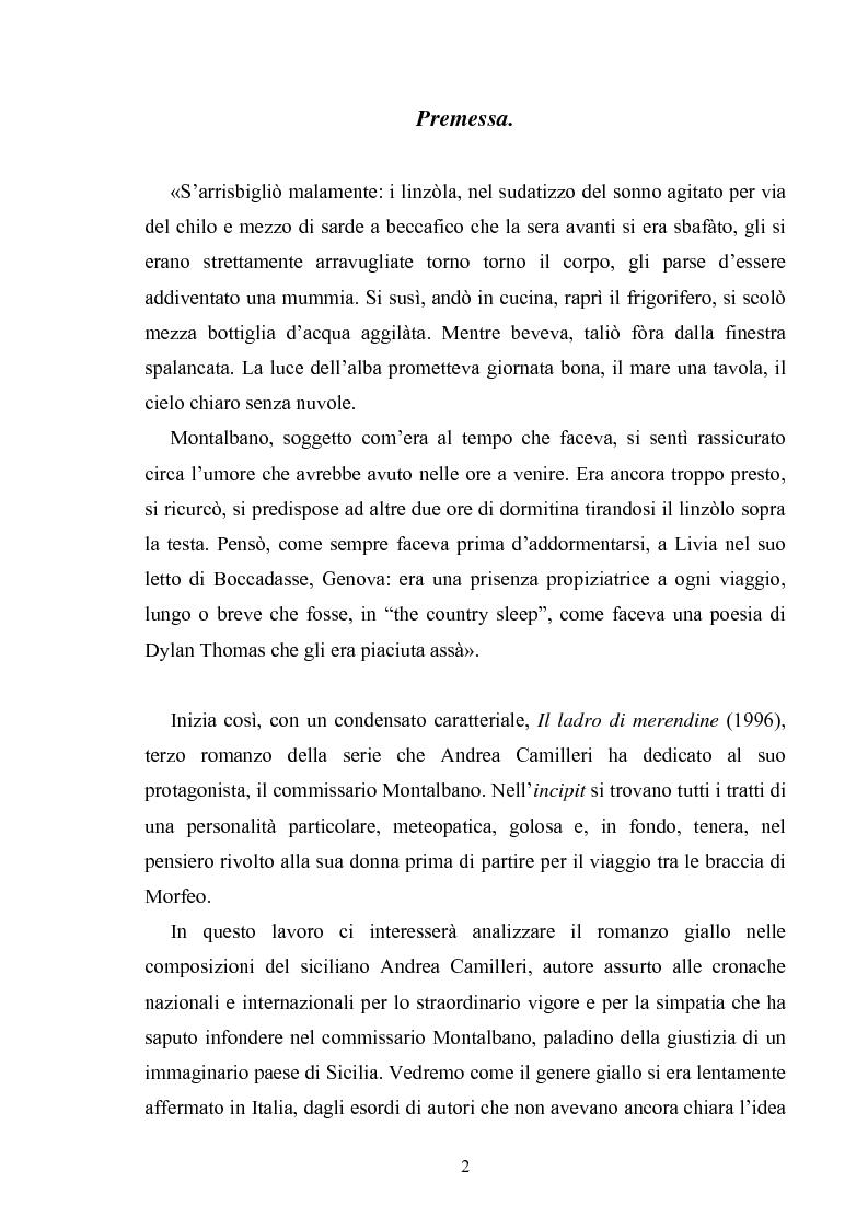 Anteprima della tesi: Andrea Camilleri e il romanzo giallo, Pagina 1