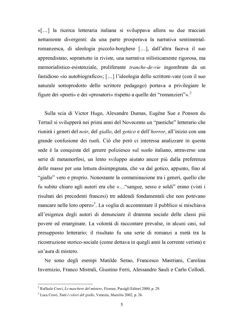 Anteprima della tesi: Andrea Camilleri e il romanzo giallo, Pagina 4