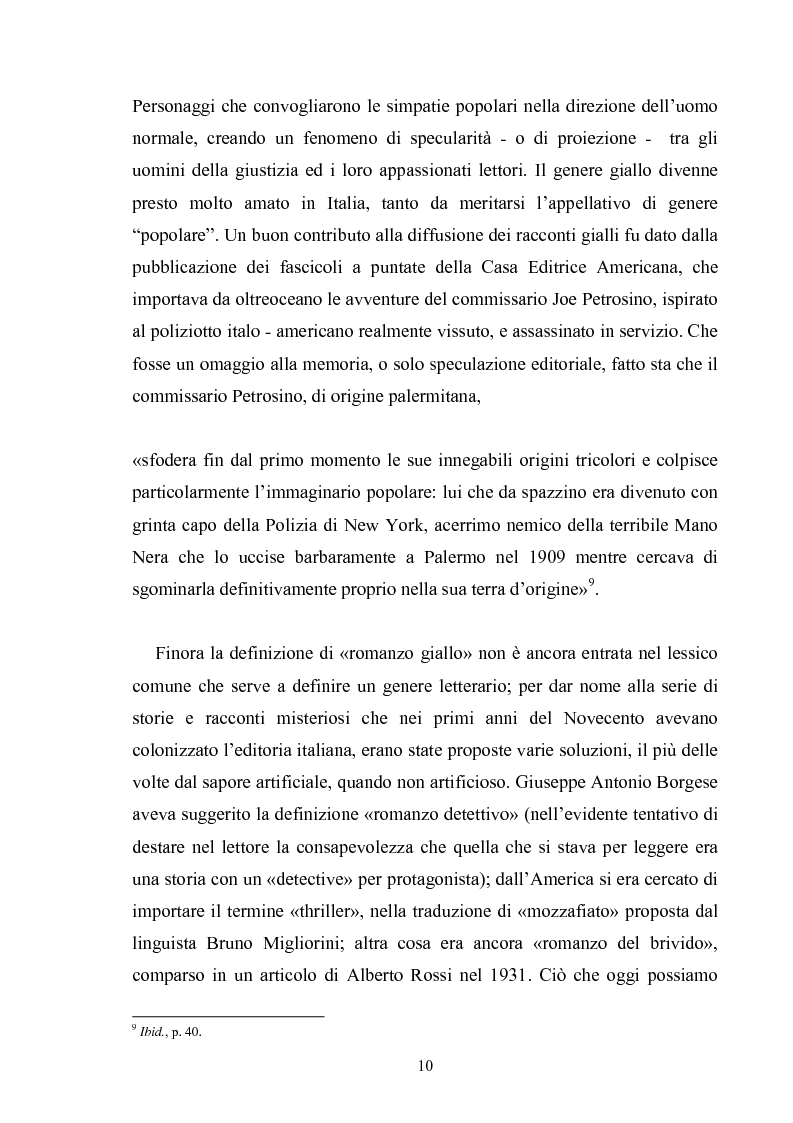 Anteprima della tesi: Andrea Camilleri e il romanzo giallo, Pagina 9