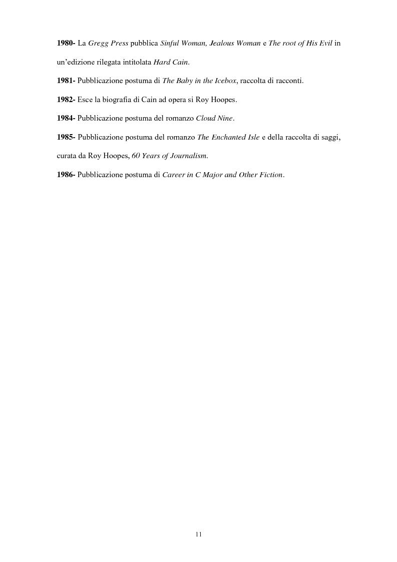 Anteprima della tesi: La narrativa di James Cain, Pagina 11