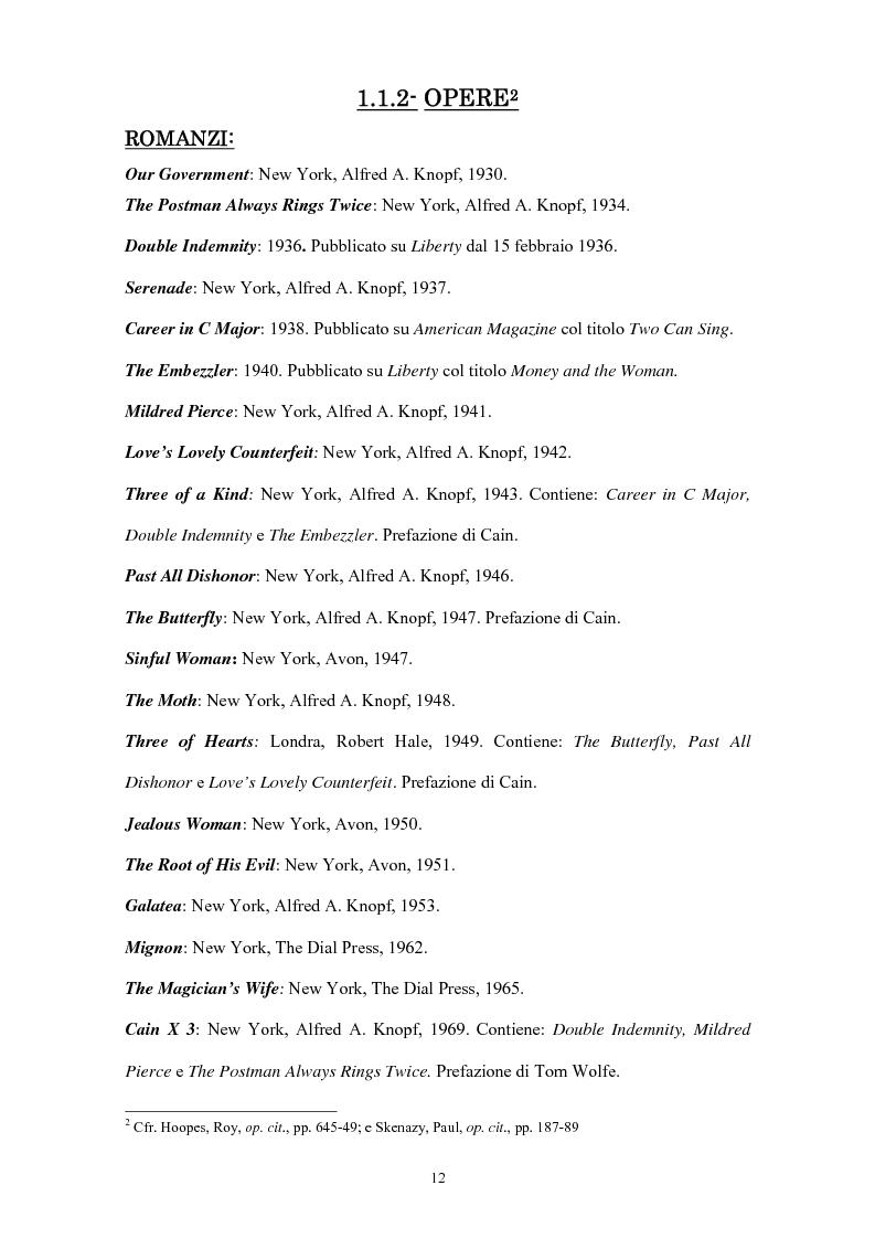 Anteprima della tesi: La narrativa di James Cain, Pagina 12