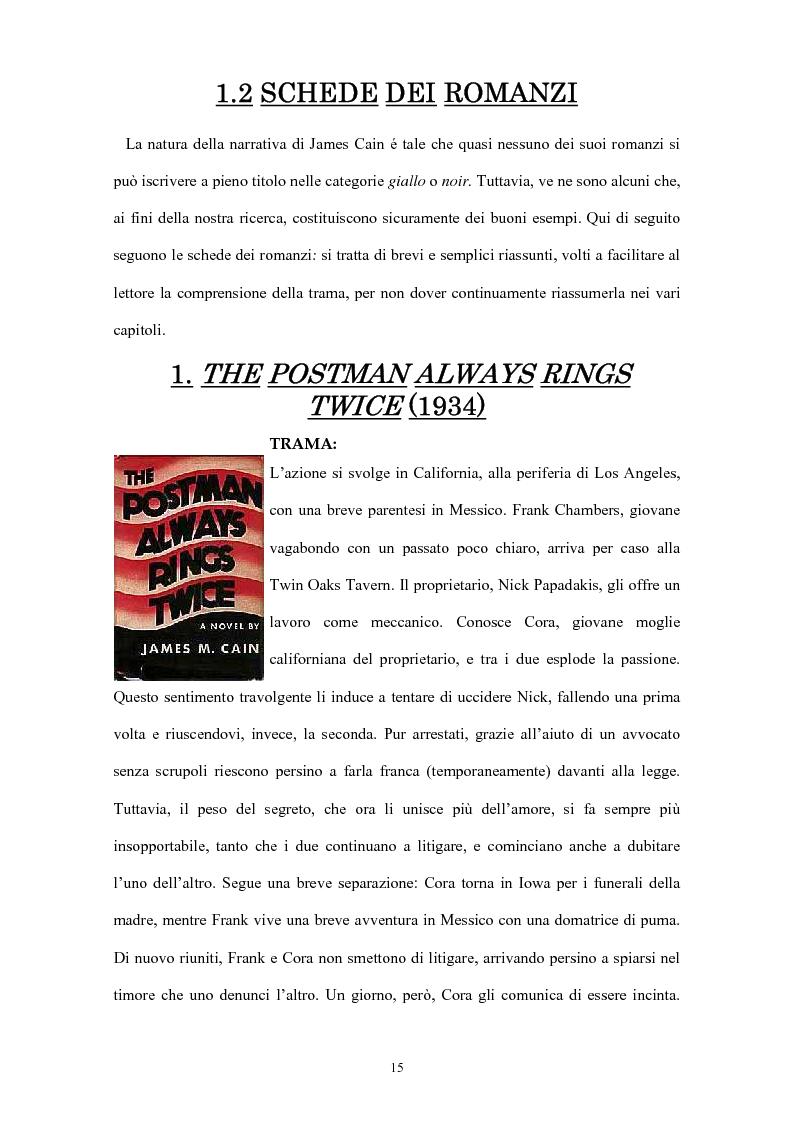 Anteprima della tesi: La narrativa di James Cain, Pagina 15