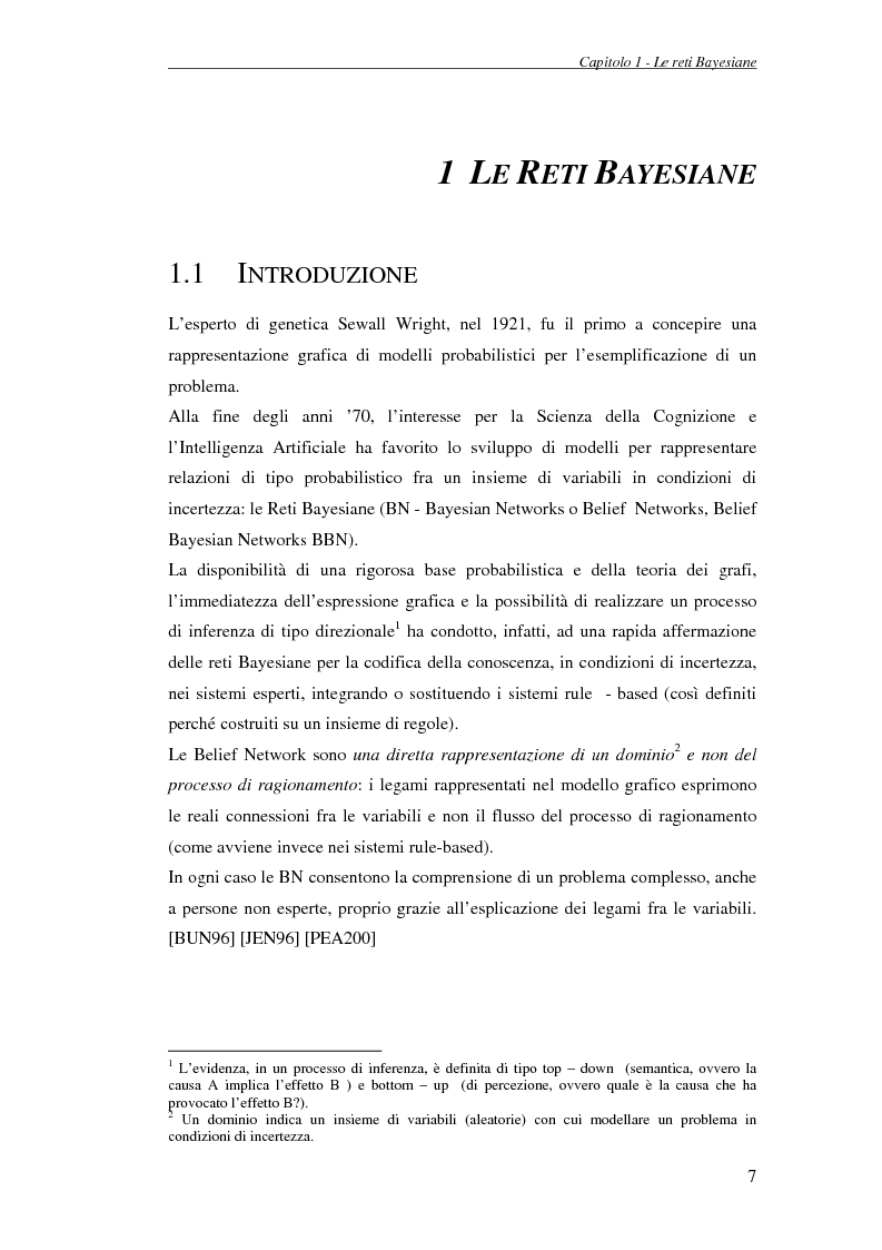 Anteprima della tesi: Reti Bayesiane: un approccio multi-esperto allo structural learning, Pagina 4