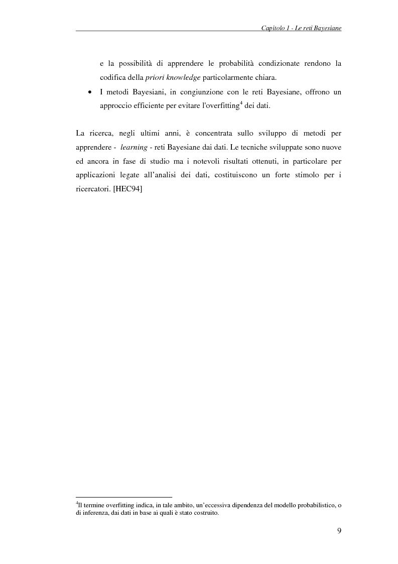 Anteprima della tesi: Reti Bayesiane: un approccio multi-esperto allo structural learning, Pagina 6