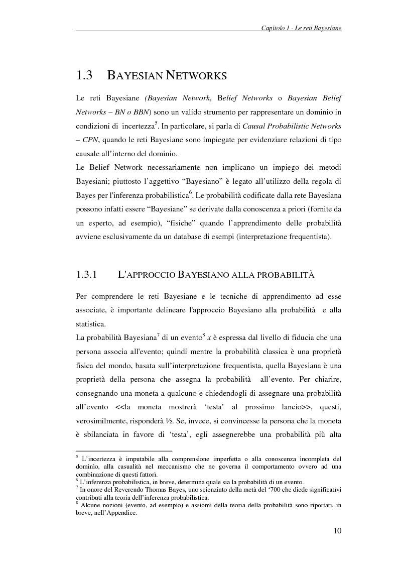 Anteprima della tesi: Reti Bayesiane: un approccio multi-esperto allo structural learning, Pagina 7