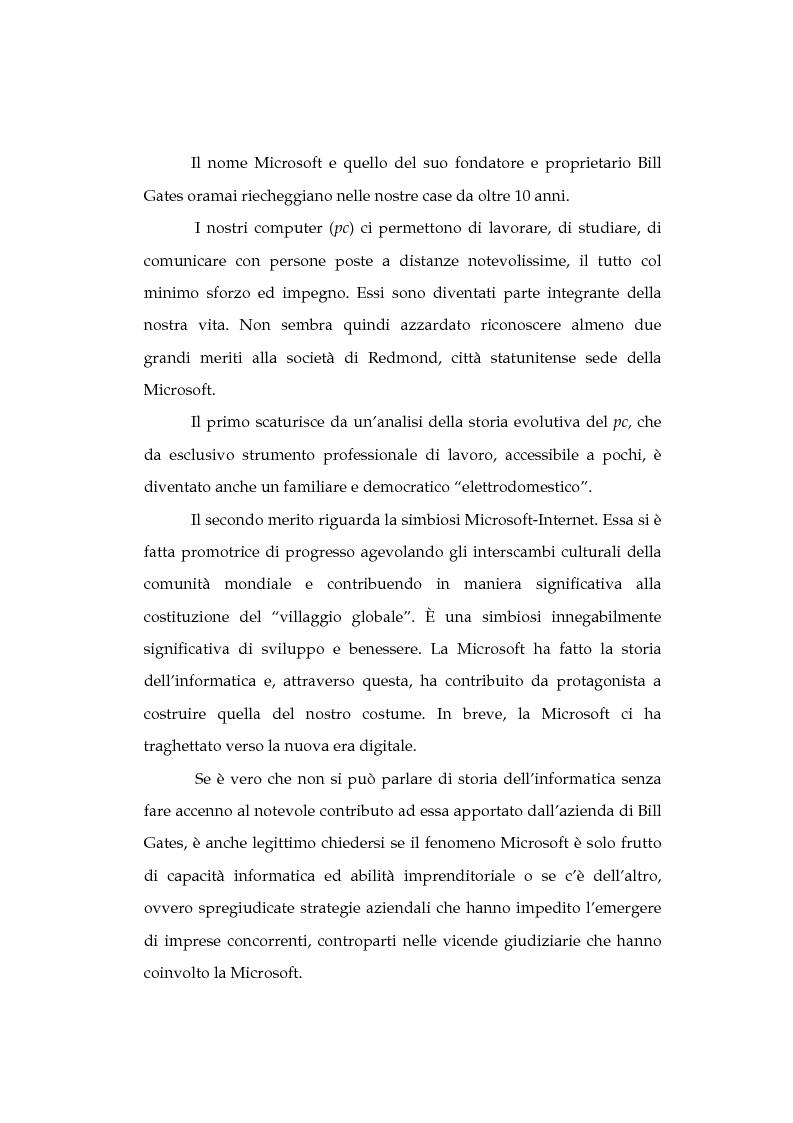 Anteprima della tesi: La tutela della concorrenza negli Stati Uniti: il caso Microsoft, Pagina 2