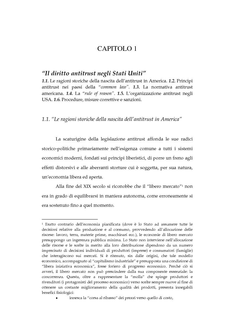 Anteprima della tesi: La tutela della concorrenza negli Stati Uniti: il caso Microsoft, Pagina 5
