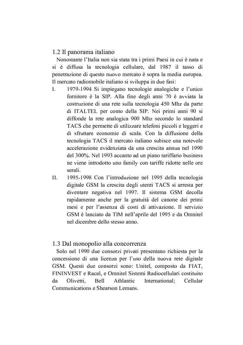 Anteprima della tesi: L'analisi del posizionamento strategico delle imprese. il caso della telefonia mobile, Pagina 4