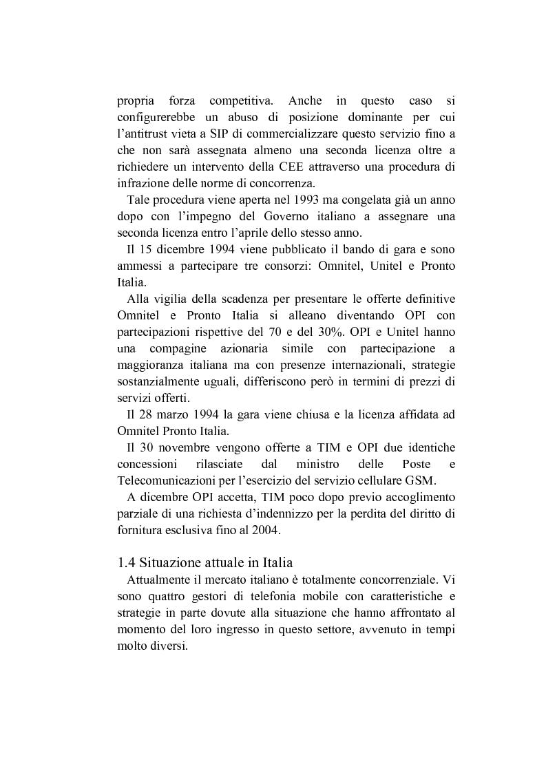 Anteprima della tesi: L'analisi del posizionamento strategico delle imprese. il caso della telefonia mobile, Pagina 6