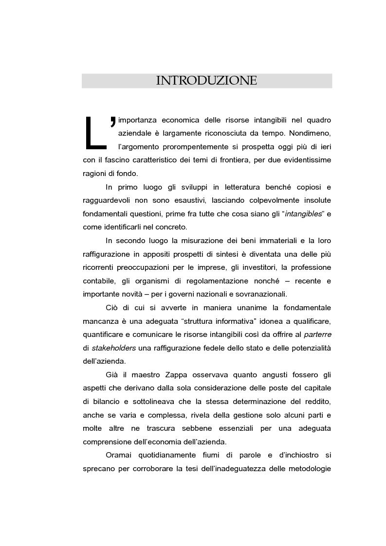 Anteprima della tesi: Le risorse intangibili nella comunicazione economico-finanziaria d'impresa, Pagina 1