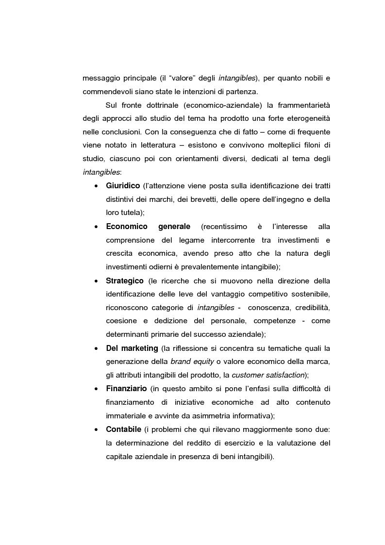 Anteprima della tesi: Le risorse intangibili nella comunicazione economico-finanziaria d'impresa, Pagina 3