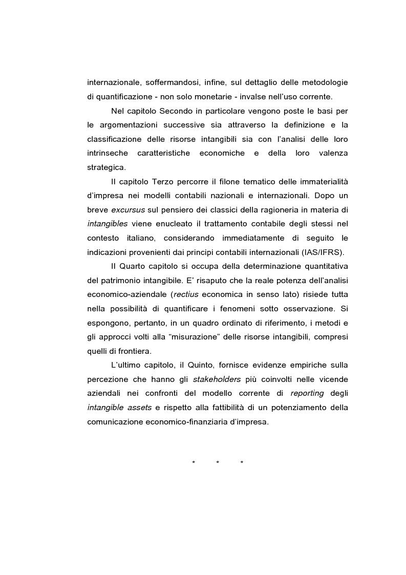 Anteprima della tesi: Le risorse intangibili nella comunicazione economico-finanziaria d'impresa, Pagina 5