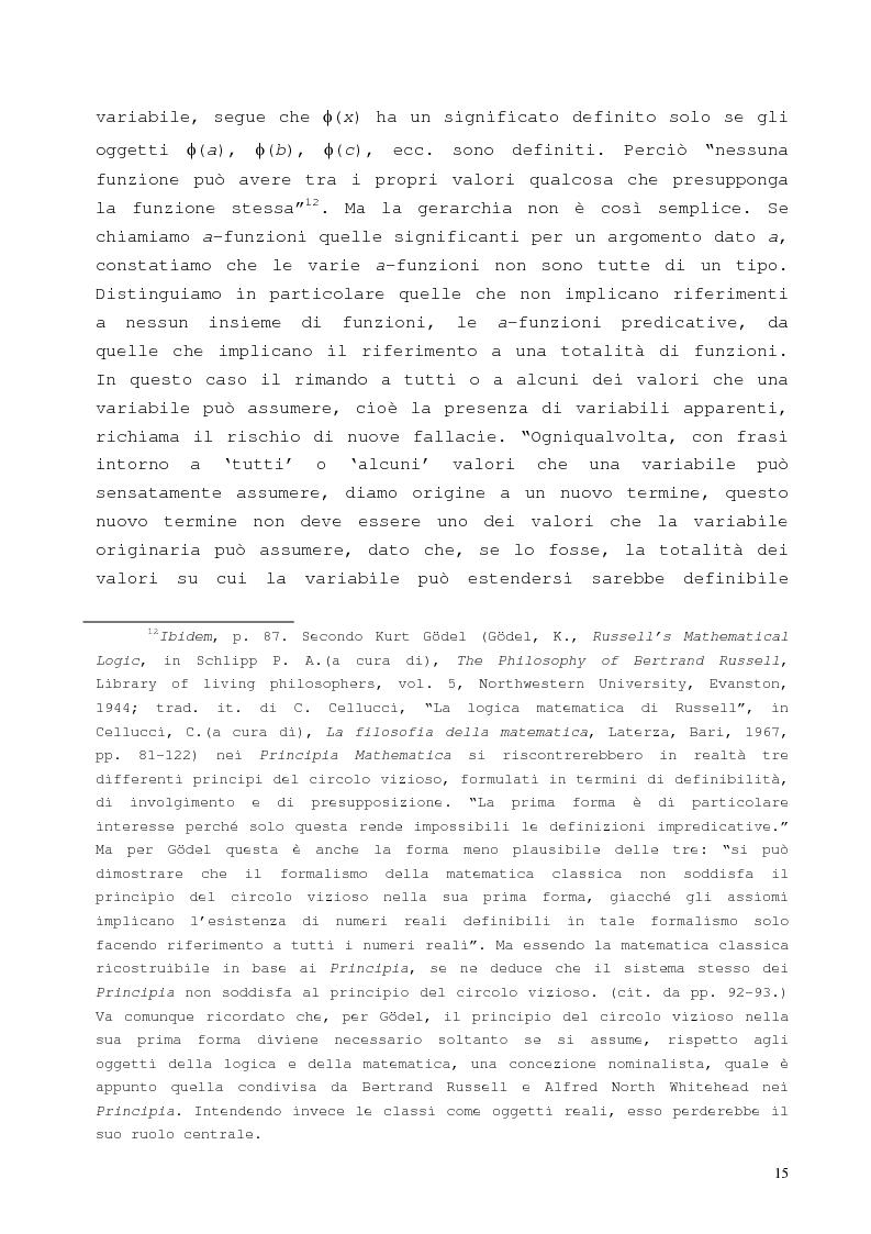 Anteprima della tesi: La proposizione di Godel, Pagina 11