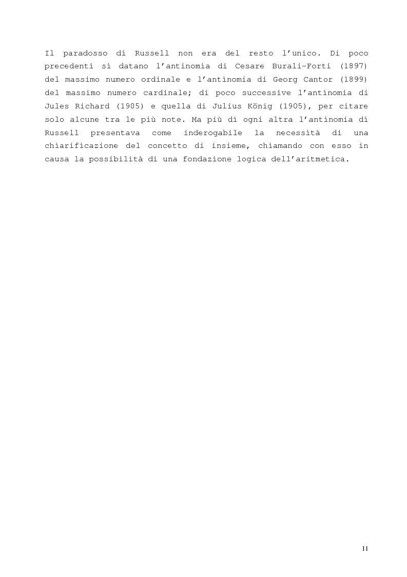 Anteprima della tesi: La proposizione di Godel, Pagina 7