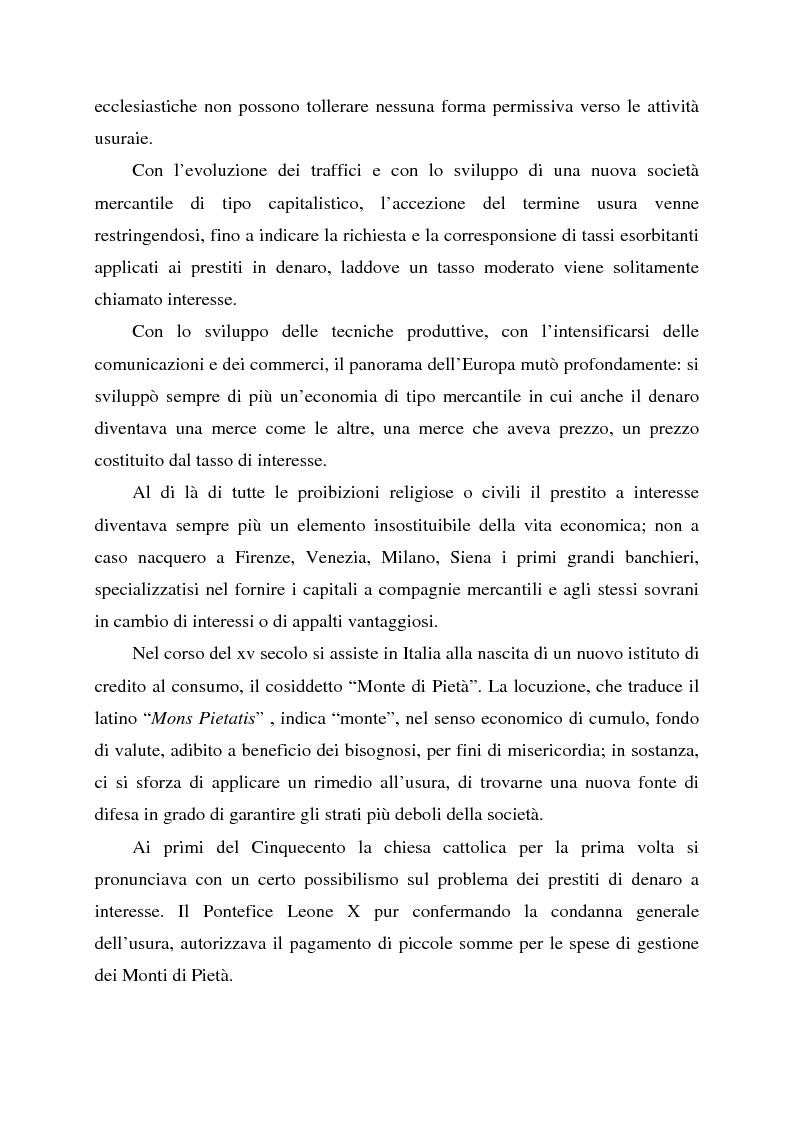 Anteprima della tesi: Profili dell'usura e della polemica antiebraica nel Rinascimento. Il ''mercante di Venezia'' di Shakespeare, Pagina 7