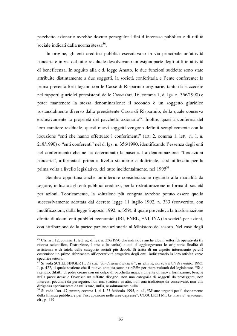 Anteprima della tesi: Natura e funzioni delle fondazioni bancarie, Pagina 11