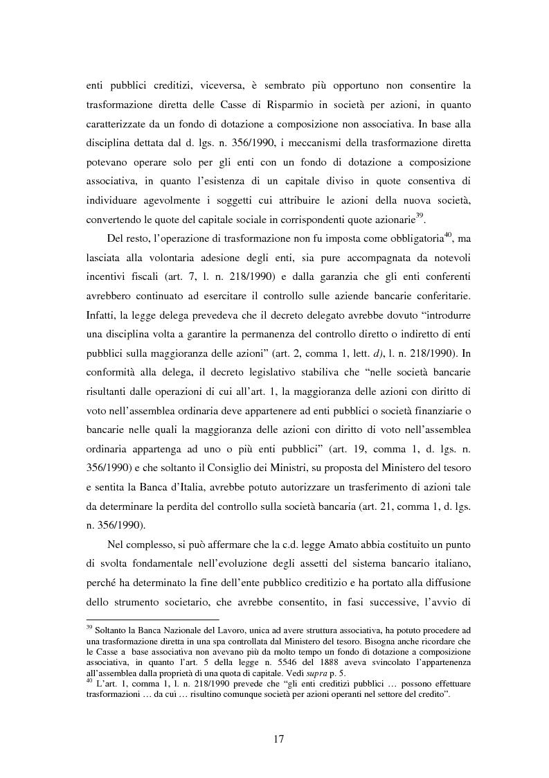 Anteprima della tesi: Natura e funzioni delle fondazioni bancarie, Pagina 12