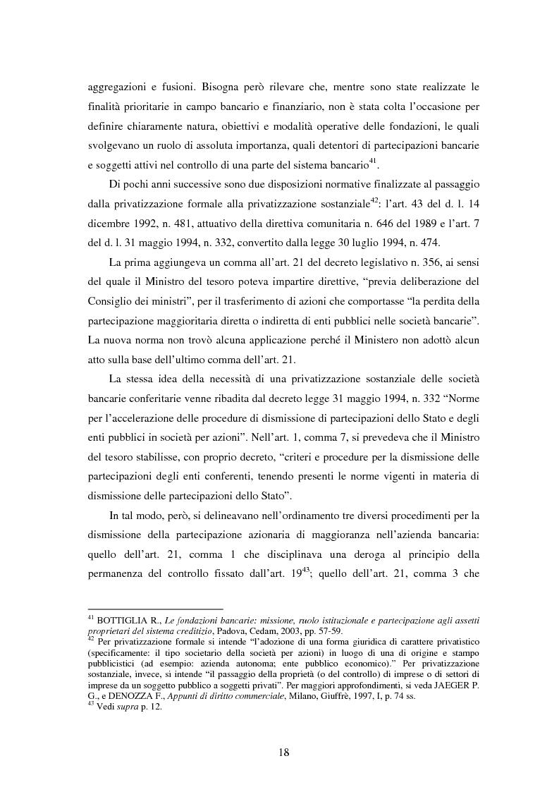 Anteprima della tesi: Natura e funzioni delle fondazioni bancarie, Pagina 13