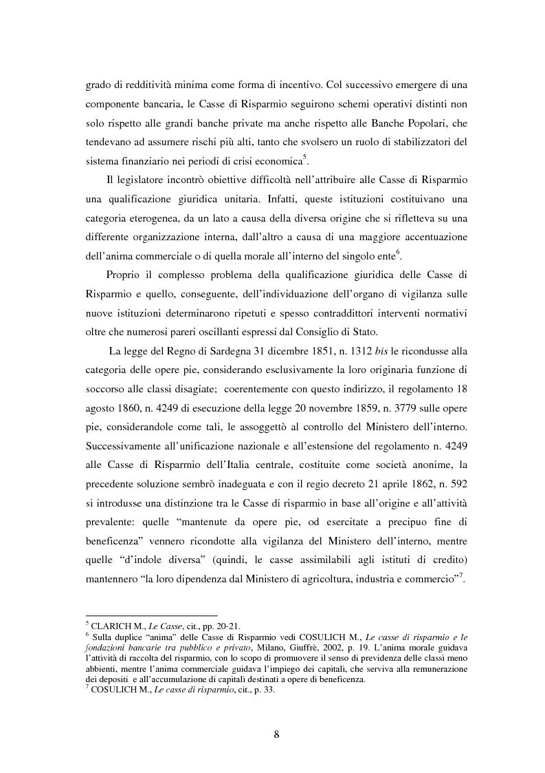 Anteprima della tesi: Natura e funzioni delle fondazioni bancarie, Pagina 3