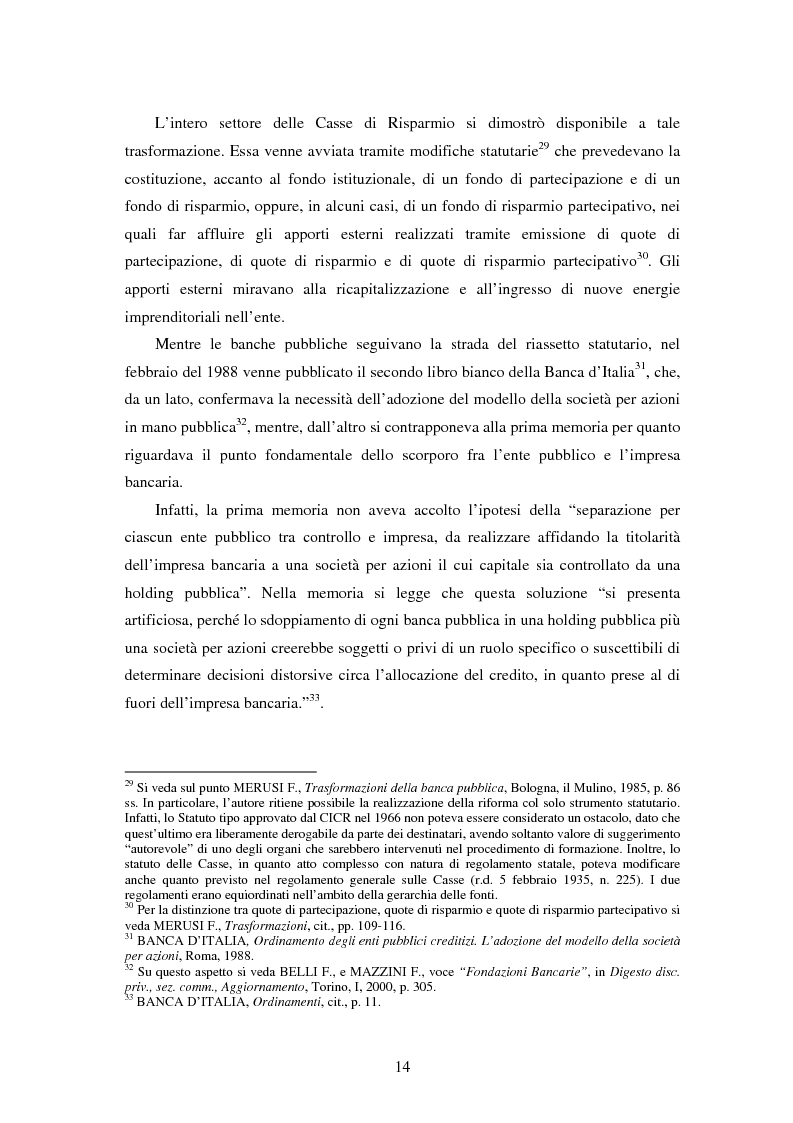 Anteprima della tesi: Natura e funzioni delle fondazioni bancarie, Pagina 9