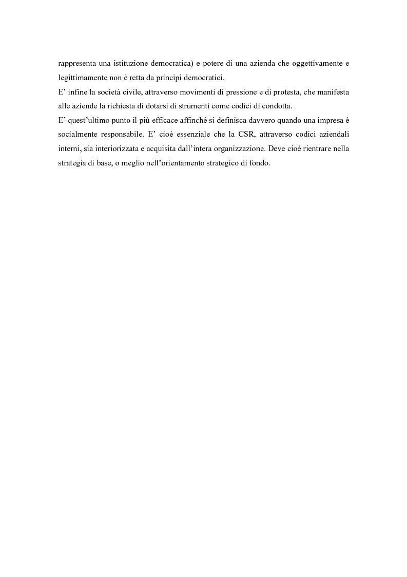 Anteprima della tesi: L'opinione pubblica come ''stakeholder'' emergente; pressioni sociali su Nike e Reebok e strategie di risposta, Pagina 12