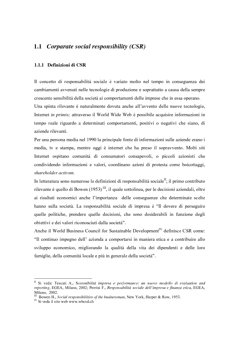 Anteprima della tesi: L'opinione pubblica come ''stakeholder'' emergente; pressioni sociali su Nike e Reebok e strategie di risposta, Pagina 4