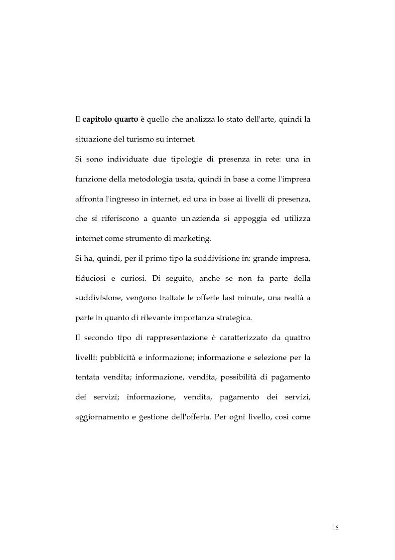 Anteprima della tesi: Web marketing nel settore turistico. Un modello di offerta per la personalizzazione della vacanza e del servizio, Pagina 15