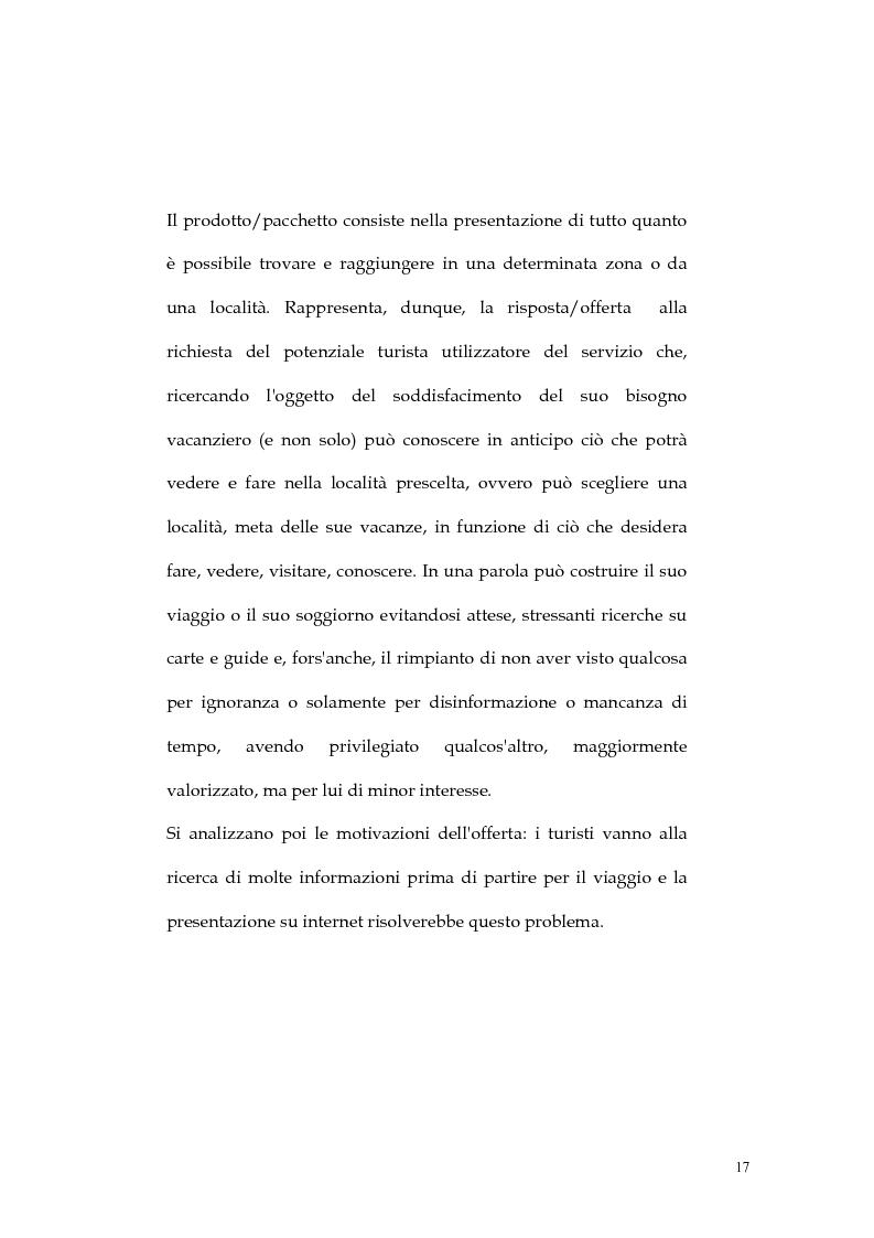 Anteprima della tesi: Web marketing nel settore turistico. Un modello di offerta per la personalizzazione della vacanza e del servizio, Pagina 17
