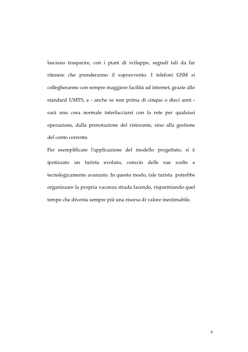 Anteprima della tesi: Web marketing nel settore turistico. Un modello di offerta per la personalizzazione della vacanza e del servizio, Pagina 4