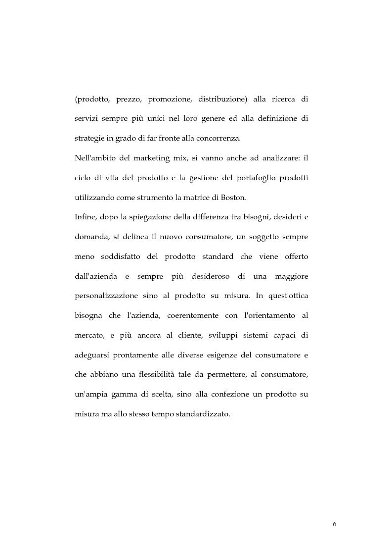 Anteprima della tesi: Web marketing nel settore turistico. Un modello di offerta per la personalizzazione della vacanza e del servizio, Pagina 6