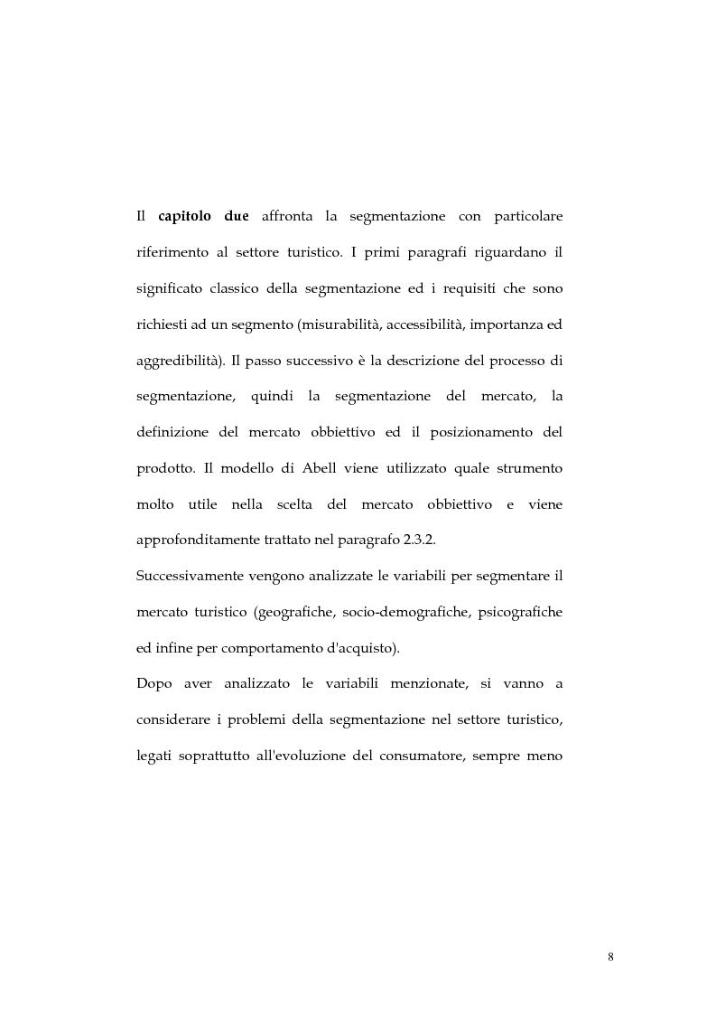 Anteprima della tesi: Web marketing nel settore turistico. Un modello di offerta per la personalizzazione della vacanza e del servizio, Pagina 8