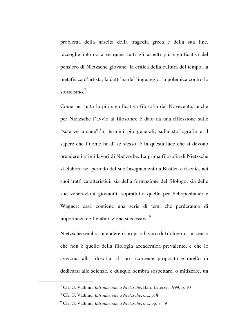 Anteprima della tesi: La critica della cultura in Friedrich Nietzsche, Pagina 4