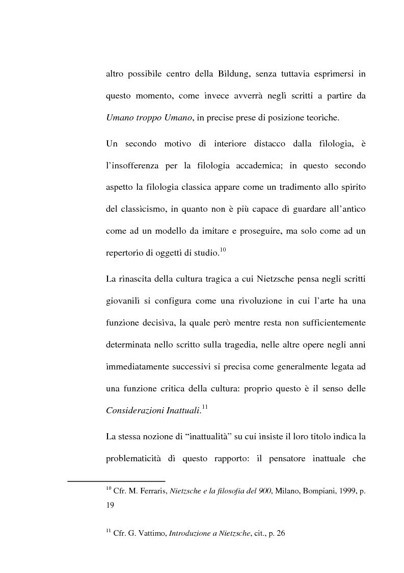 Anteprima della tesi: La critica della cultura in Friedrich Nietzsche, Pagina 5
