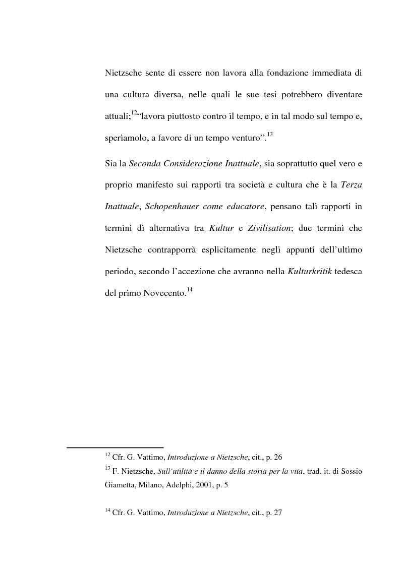 Anteprima della tesi: La critica della cultura in Friedrich Nietzsche, Pagina 6
