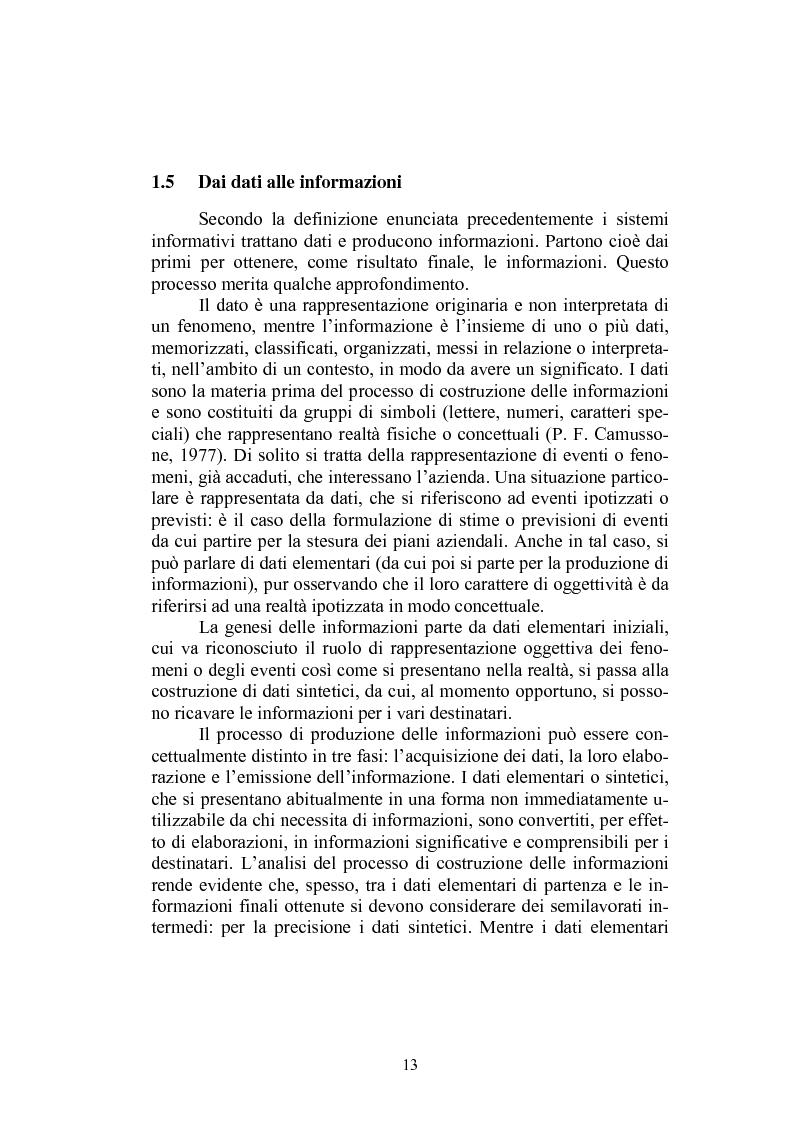 Anteprima della tesi: Sistema informativo aziendale per il controllo di gestione. Analisi di un caso, Pagina 13