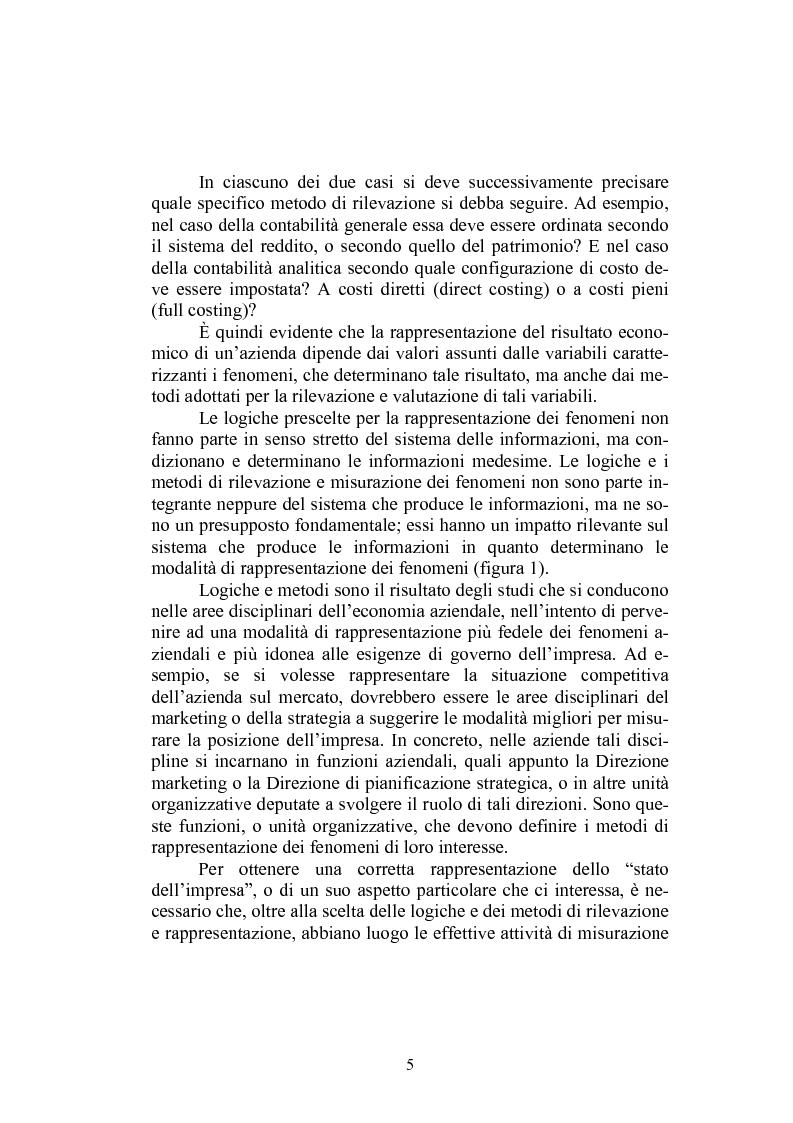 Anteprima della tesi: Sistema informativo aziendale per il controllo di gestione. Analisi di un caso, Pagina 5