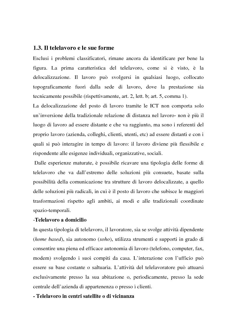 Anteprima della tesi: Telelavoro e pubblica amministrazione: opportunità e prospettive, Pagina 10