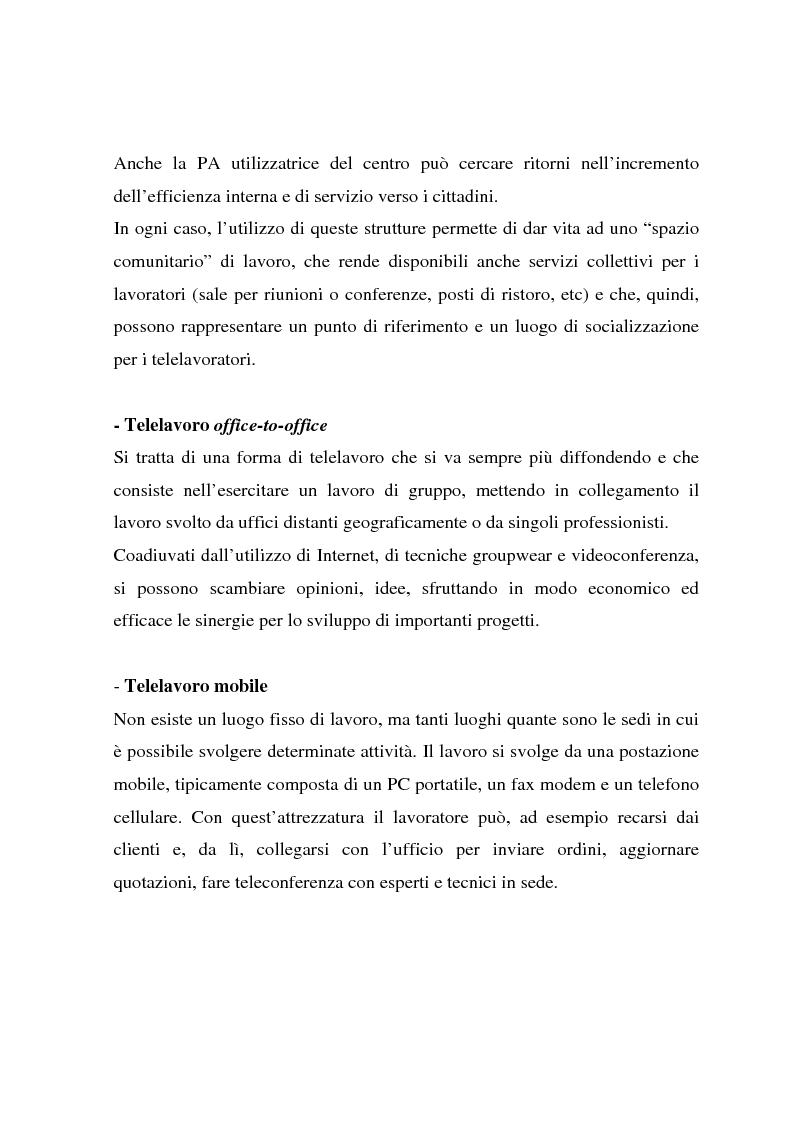Anteprima della tesi: Telelavoro e pubblica amministrazione: opportunità e prospettive, Pagina 12