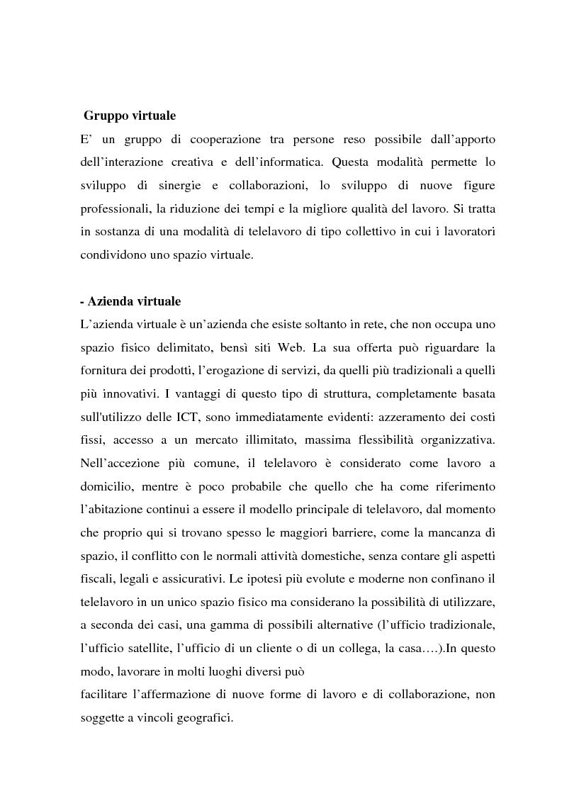 Anteprima della tesi: Telelavoro e pubblica amministrazione: opportunità e prospettive, Pagina 13