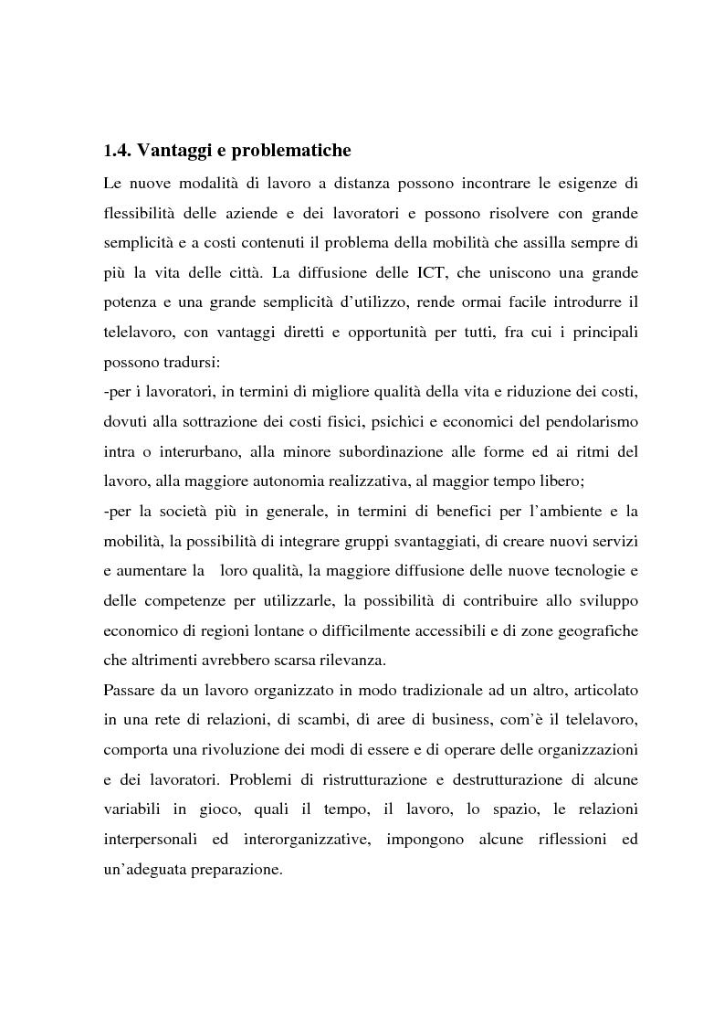 Anteprima della tesi: Telelavoro e pubblica amministrazione: opportunità e prospettive, Pagina 14