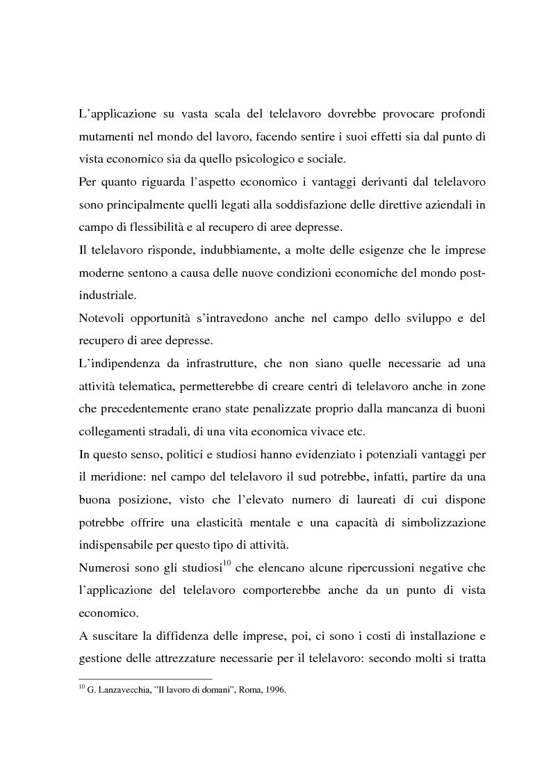Anteprima della tesi: Telelavoro e pubblica amministrazione: opportunità e prospettive, Pagina 15