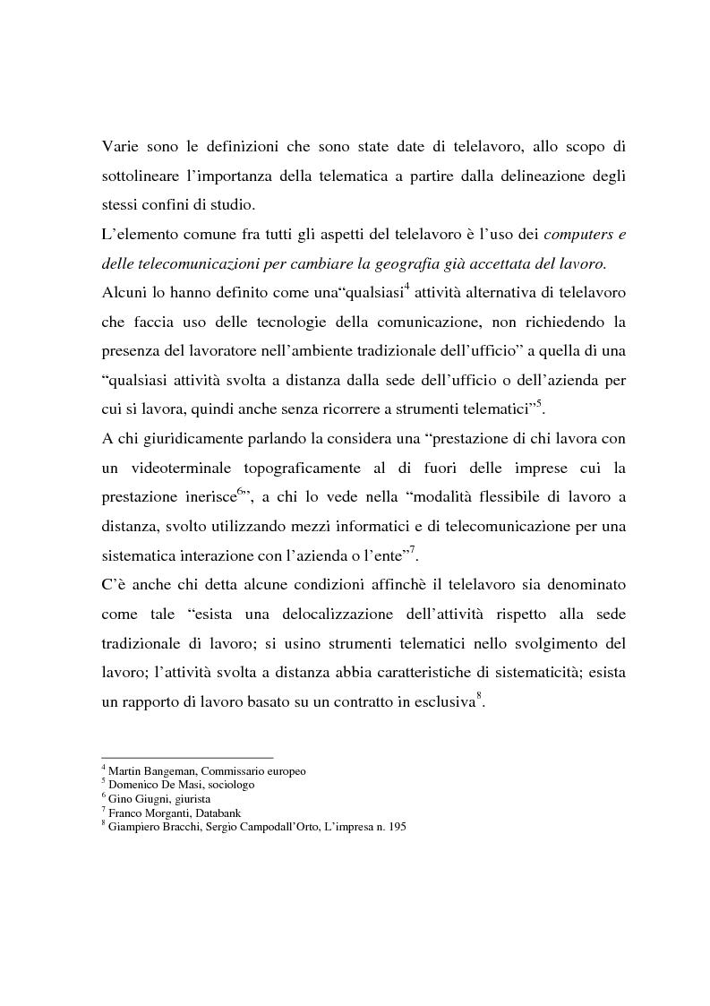 Anteprima della tesi: Telelavoro e pubblica amministrazione: opportunità e prospettive, Pagina 7