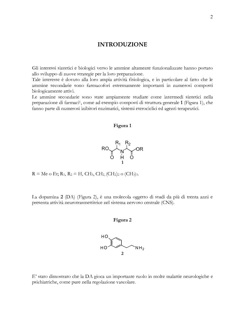 Anteprima della tesi: Sintesi di ammine secondarie per riduzione di a-ammidoalchilfenil solfoni con idruri metallici, Pagina 1